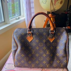 Louis Vuitton Speedy Bag Purse LV Monogram